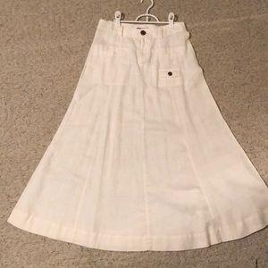 Tape measure Anthropologie white linen skirt 4